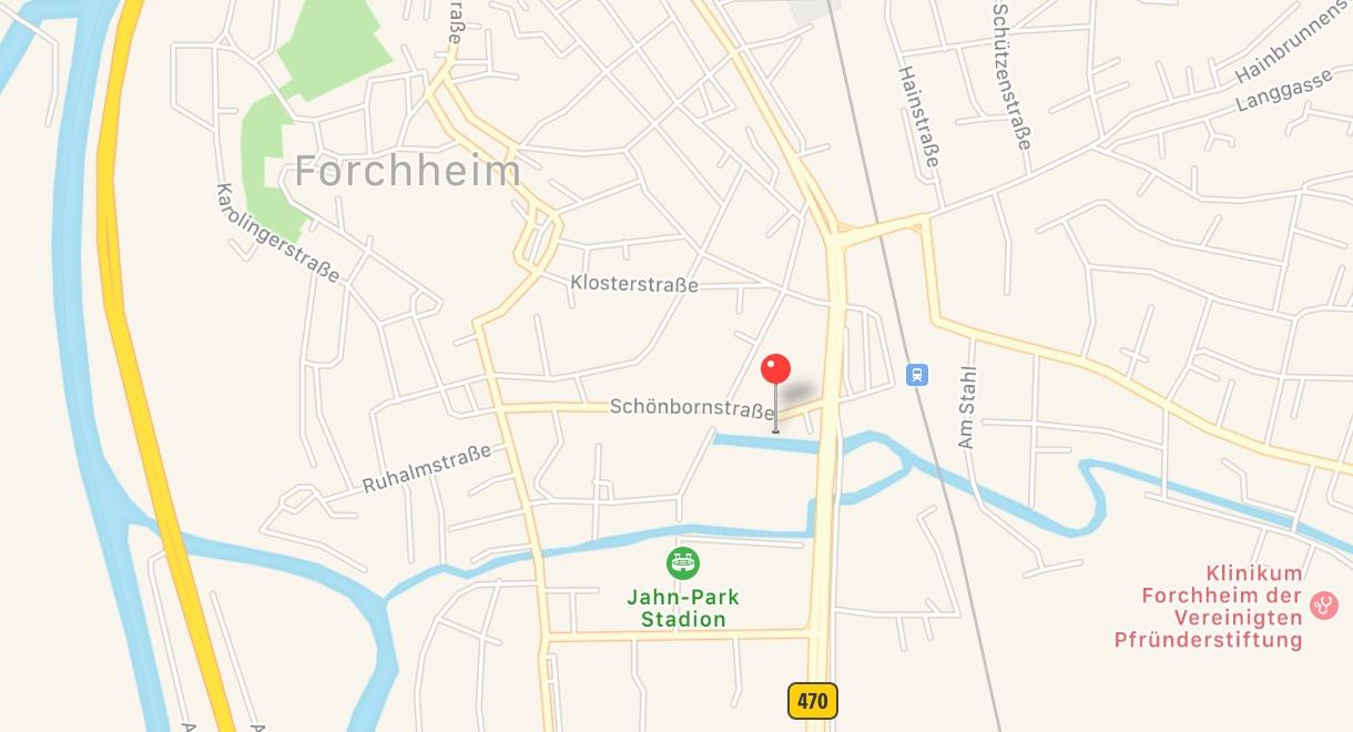 Anfahrt Physioteam Forchheim